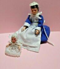 Dolls House Victorian Servant Nursemaid with baby ~ Streets Ahead