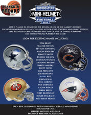 PITTSBURGH STEELERS 2018 LEAF AUTOGRAPHED MINI HELMET 1BOX Break