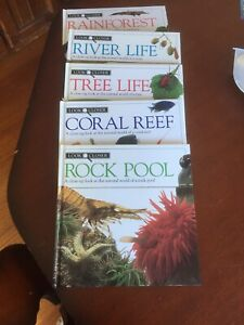 Look Closer X4 Rainforest. River Life. Tree Life. Coral Reef. Rick Pool H/b 1992