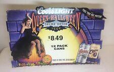 1999 Coors Light Beer Salma Hayek Halloween cardstock display standee ~ 28x19