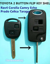 2 BUTTON FLIP KEY CASE fits TOYOTA Rav4 Corolla Camry Echo Prado Celica Tarago