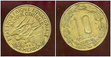 AFRIQUE EQUATORIALE  10  francs 1965