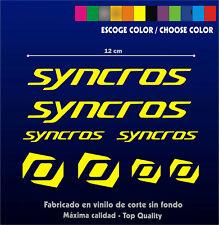KIT - PEGATINAS - STICKERS - VINILO - LAMINA - PACK- Syncros - VINYL - Bike