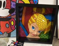 "Disney Romero Britto TINKERBELL 3D Pop Art Block Tink 7"" Frame Wall Hanging NEW"