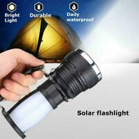 Solar Power Lights Lantern Lamp Rechargeable Battery Hot LED Flashlight Cam M7S0