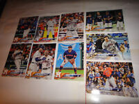 HOUSTON ASTROS COMPLETE TEAM SET, 2018 TOPPS SERIES 1, 2 AND UPDATE