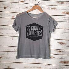 Tokyo Darling Grey Black Burnout Tee Top Shirt Blouse Zombie Tshirt Sz XS