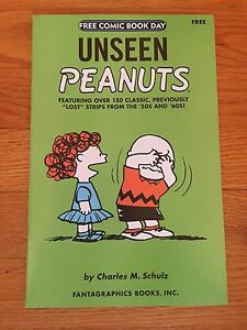 Fantagraphics UNSEEN PEANUTS 2007 Free Comic Book Day FCBD NM Charles Schulz