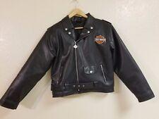 Harley Davidson Motorcycle Black Jacket Size Large Non-Leather