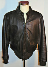 VTG 1980s WILLIS & GEIGER WWII REPRO GOATSKIN LEATHER A-2 FLIGHT JACKET! USA! 42