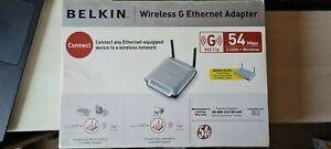 Belkin 802.11g Wireless G Router Gaming Adapter / Ethernet Bridge