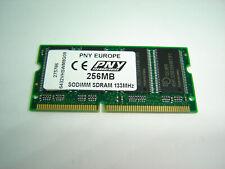 VINTAGE PNY 256MB PC133 CL3 144PIN SDRAM LAPTOP MEMORY RAM MODULE