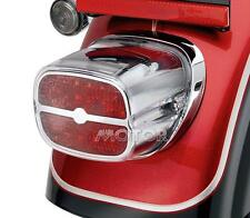 Chrome/Red Motorcycle LED Tail Brake Light for Harley HD Touring Road King Glide