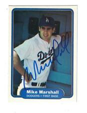 Mike Marshall AUTOGRAPH 1982 FLEER RC BASEBALL CARD SIGNED LOS ANGELES DODGERS