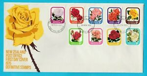 NZ New Zealand Roses Definitive Issue First Day Cover 1975
