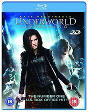 Blu Ray UNDERWORLD AWAKENING tru 3D and 2D. Kate Beckinsale. Brand new sealed.
