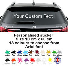 Personalised Custom Rear Window Car Stickers Vinyl Name Lettering Decal