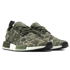 Adidas Men's NMD R1 Camo Print Lace Up Sneakers, Green, 10