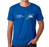 O'Hare International Airport TShirt Chicago Air Travel Souvenir Blue Tee Shirt