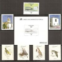 Portugal Madeira SC # 115-121, 118a, 119a Birds, Europa, Architecture . MNH
