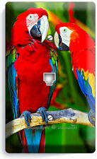 TROPICAL PARROTS LOVE BIRDS PHONE JACK TELEPHONE WALL PLATE COVER HOME ART DECOR