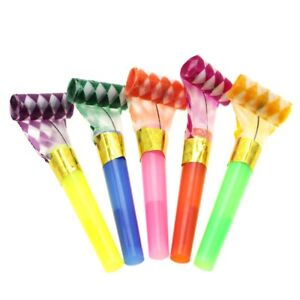 10Pcs Plastic Noise Maker Blowout Party Jazzy Whistle Children Kids Toy Gift