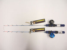 "HT 24"" Ice Blue Ultra Light Combo (MFR-1 Reel & IB-24 Rod) - TWO Combos, Panfish"