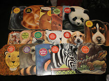GOLDEN PRESS ANIMAL SHAPED BOOKS EARLY 1960'S LOT OF 16