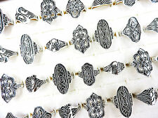 20pcs Wholesale Bulk Jewelry Lots Mixed Style Tibet Silver Vintage Rings Free