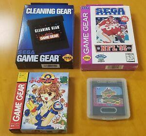 New Sega Game Gear Bundle (NFL 95 Game,Puyo Puyo 2, World Series Baseball +MORE)
