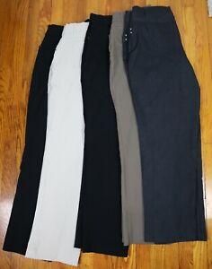 LOT OF 5 PAIRS OF WOMEN'S PANTS - JM COLLECTION - BLACK, BLUE, KHAKI - SIZE 16