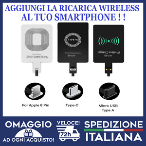 Modulo Ricarica Wireless QI Adattatore Ricevitore WiFi SAMSUNG APPLE 🇮🇹