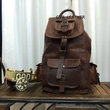 Bag Backpack School Leather Travel Men Rucksack Laptop Satchel Holdall Shoulder