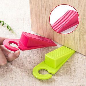 Hanging Rubber Door Stopper Hook Safety Protector Blocker Home Draft YG