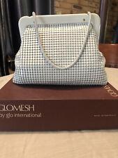 Glomesh NEW Retro vintage WHITE/GOLD GLOMESH Handbag- Australian Made