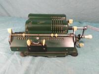 Rechenmaschine Mechanisch Historisch Rechner Antik Stil Schubert Rarität o9c2