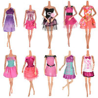 10Pcs Fashion Party Dresses Clothes Gown For  Dolls Girls Random Pick WL