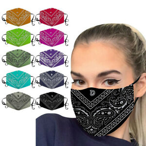 Adult Unisex Face Mask Washable Cover Fashion Protective Air Pollution Reusable