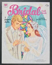 """Bridal Doll Book"" 1978 Whitman Uncut Paper Dolls Vintage"
