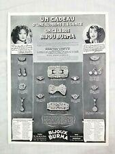 1938 Bijoux Burma Jewelry Ritz Makeup Beauty Advertisement France Print Ad