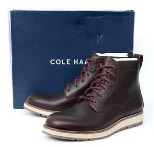 NIB COLE HAAN Original Grand Chestnut Brown Leather Waterproof Boots 13 M
