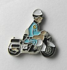 POLICE MOTORCYCLE COP CHIPS HIGHWAY PATROL NOVELTY LAPEL PIN BADGE 3/4 INCH