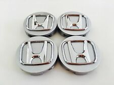 SET OF 4 69mm  OR 2.75 SILVER WHEEL CENTER CAPS FOR HONDA ACCORD CIVIC PILOT