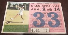 Mary Arnold Prentiss Tennis featured on a 1948 Los Angeles Transit Lines Ticket