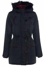 Fur Patternless Parka Outdoor Coats & Jackets for Women