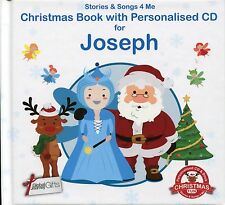 CHRISTMAS BOOK WITH PERSONALISED CD FOR JOSEPH - STORIES & SONGS 4 ME
