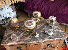 Salon ancien miniature de poupée en porcelaine de limoges