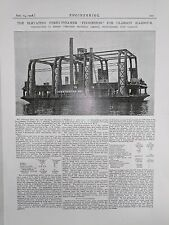 The Elevating Ferry Steamer Finnieston, Glasgow: 1908 Engineering Magazine Print