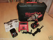 Milwaukee hd18 PD Batterie une perceuse dans la valise, 2x 18v/3, 0ah Batteries, 2j. Garantie