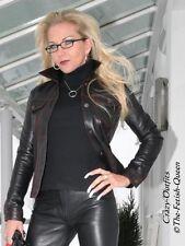 Lederjacke Leder Jacke Schwarz Jeansstil Ziernähte Maßanfertigung